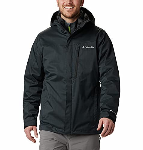 Columbia Whirlibird IV Interchange - Chaqueta impermeable y transpirable para hombre, Hombre, Whirlibird IV Interchange - Chaqueta, 1866752, Mezcla negra., 6 unidades
