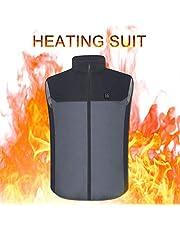 JoinBuy.R - Chaleco calefactable recargable por USB, para mujeres y hombres, chaleco calentado, calentador eléctrico para actividades al aire libre, senderismo, caza, motocicleta, camping
