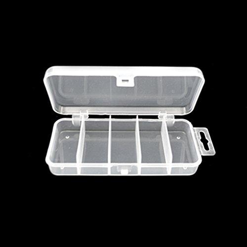 5 Fächer Kunststoff Aufbewahrungsbox, als Angelgerät Box / Köderbox, Multifunktioneller Aufbewahrungskoffer