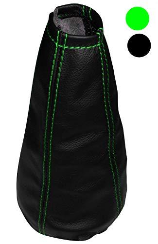 Aerzetix schakelmanchet van 100% echt leer, zwart met verschillende kleuren noir avec surpiqûres vertes