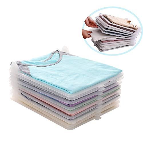 takestop® - Juego de 2 organizadores de plástico, Color Blanco, 35 x...