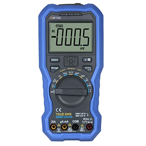 KKmoon Digit Smart BLE 4.0 Multimeter True RMS Digital High Accuracy LCD Multimeter with Wireless Connection Data Log Auto-ranging AC/DC Voltage and Current Resistance Capacitance