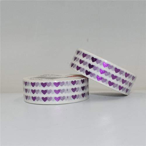 ZXWDL driehoekige band DOT Washi 15 mm x 10 m I Fita Sticker Decoratie voor geschenkverpakkingen
