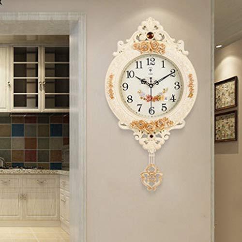 WYJW Polaris Europese klok muur klok creatieve swing mode persoonlijkheid wandpanelen dempen de woonkamer klok quartz horloge thuis