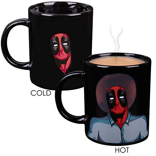 Marvel Deadpool Hitze Reveal Kaffeebecher aus Keramik–Bob Ross Bild und