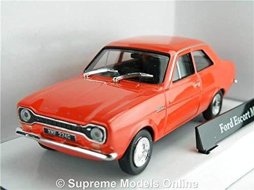 Supreme Models FORD ESCORT MK1 MODEL CAR 1:43 SIZE RED 1960'S 2 DOOR SALOON CLASSIC R01