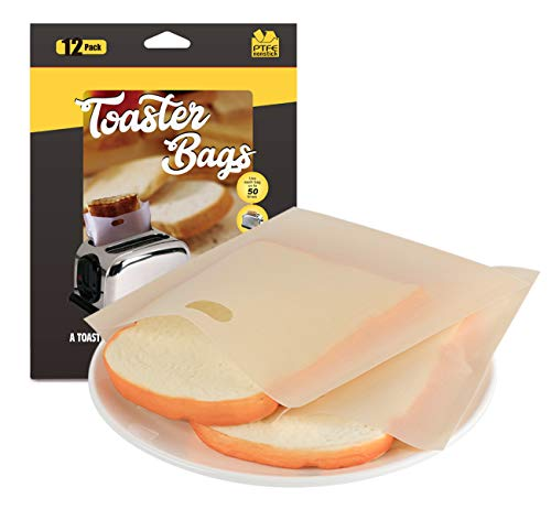 ilauke - 12 Bolsas de Tostadas Reutilizables para Tostadas, Bolsas antiadherentes para Pan, sándwiches, Pizzas y microondas