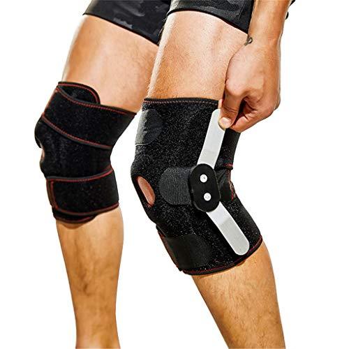 Rodillera ortopédica con bisagras 2PCS - Soporte de rótula abierta ajustable para lesiones hinchadas de ACL, tendones, ligamentos y meniscos - Envoltura de compresión atlética,1pcs