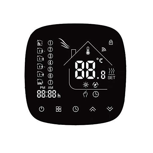 FESTNIGHT Thermostaat met Touchscreen LCD Display Wekelijks Programmeerbare Energiebesparing (WiFi 16A Elektrische Verwarming)