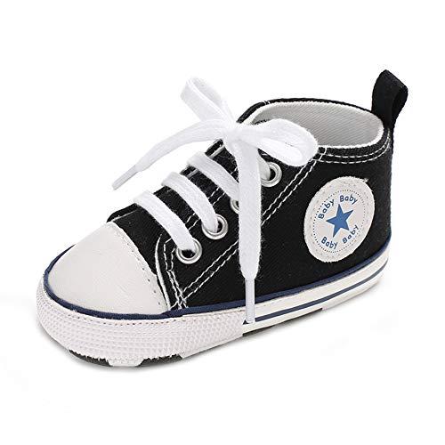Zapatos para bebé Auxma La Zapatilla de Deporte Antideslizante del Zapato de Lona de la Zapatilla de Deporte para 3-6 6-12 12-18 M (6-12 M, Azul)