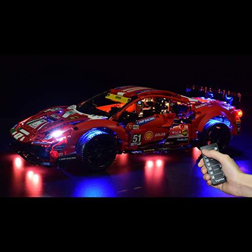 LesDiy Baustein-Beleuchtungsset, LED-Beleuchtungsset für Lego Ferrari 488 GTE 42125 (Nur LED Enthalten, Kein LEGO...