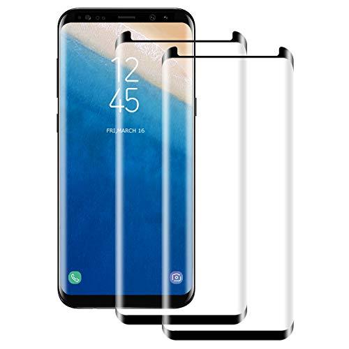 NUOCHENG Verre Trempé pour Samsung Galaxy S8 Plus, [2 Pièces] [3D Couverture Complète] [Dureté 9H] [Anti-Scratch] [sans Bulles] [Haut Définition] Film Protection d'Ecran pour Galaxy S8 Plus