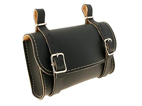 Borsa classica da sellino, in pelle sintetica, accessorio per Bicicletta, colore: nero, numero di riferimento: 3252
