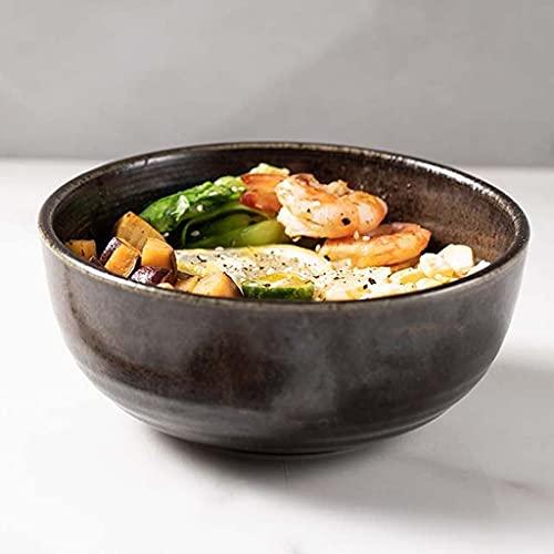TJH Cuencos de arroz, Cuencos de arroz domésticos de Varios tamaños, Cuencos de Ramen, Cuencos de cerámica Grandes para Sopa, Cuencos de Fideos comerciales Individuales