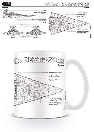 KaiWenLi International MG23477 Star Wars Star Destroyer Sketch - Taza multicolor