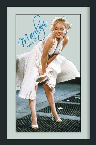 Empire Merchandising GmbH 558497 Miroir imprimé avec Cadre en Plastique Effet Bois Marylin Monroe Signature Bleue 30 x 40 cm