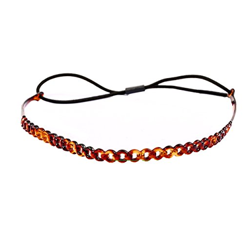 A&A Hair Beauty Haarschmuck Haarband Band Gummi Haargummi Stirnband Kopfschmuck Schwarz elastisch