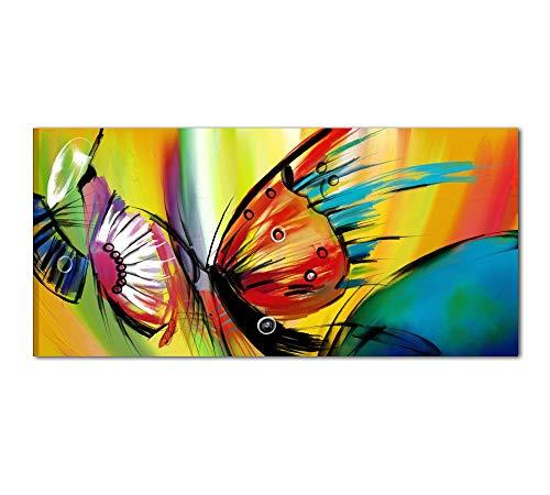 I Colori del Caribe Quadro Moderno Dipinto A Mano con Farfalle Quadri Moderni Salone Cucina Divano - Farfalle 5