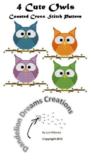 Cute Owls Counted Cross Stitch Pattern (English Edition)