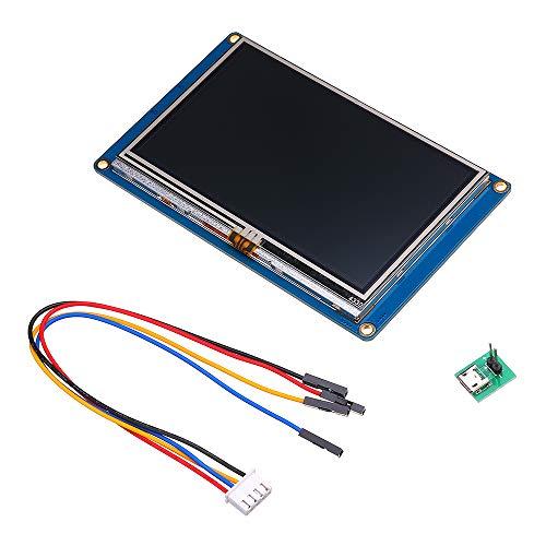 Nextion NX4827T043 Display 11,9 cm (4,3 Zoll) HMI Intelligenter Smart UART Serial Modul Touch Panel TFT LCD für Kit Raspberry Pi und Arduino