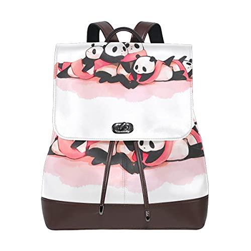 MALPLENA Cute Pandas Babies Pintura Mochila Mochila Mochila Escolar