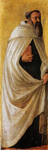 "Masaccio Saint Carmelitano Barbuto from The Pisa Altarpiece 1426 Gemaldegalerie Staatliche Museen zu Berlin 30"" x 10"" Fine Art Giclee Canvas Print (Unframed) Reproduction"