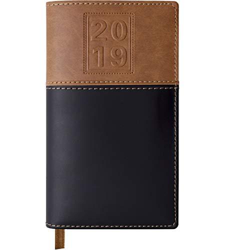 2019 Pocket Planner/Pocket Calendar: Includes 14 Months (November 2018 to December 2019) / 2019 Weekly Planner/Weekly Agenda/Monthly Calendar Organizer (Black/Brown - Pack of 1)