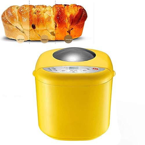 MRMRMR Máquina para Hacer Pan, Automática para Hacer Pan 10 En 1 con Dispensador De Nueces Máquina para Hacer Pan con 10 Programas De Cocción Pan De Cerámica Antiadherente 3 Tamaños
