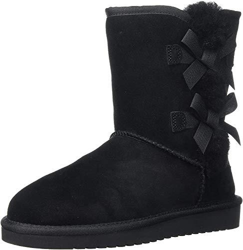 Koolaburra by UGG Women's Victoria Short Fashion Boot, Black, 09 M US