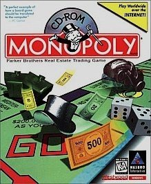 CD-ROM Monopoly for Windows Parker Brothers  Real Estate Trading Game for Computer Product #44036