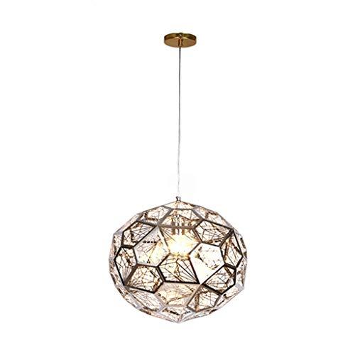 LMDH Kronleuchter moderne Edelstahl Pendelleuchten E27 hängen Lampe for Küche Schlafzimmer Bar Wohnzimmer Studie (Color : Silver)