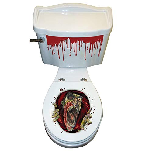 Horror-Shop Zombie Toilettendeckel Aufkleber