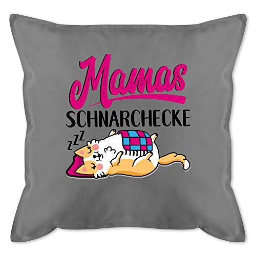 Muttertagsgeschenk Kissen - Mamas Schnarchecke - schwarz/Fuchsia - Unisize - Grau - Kissen zum Muttertag - GURLI Kissen mit Füllung - Kissen 50x50 cm und Dekokissen mit Füllung