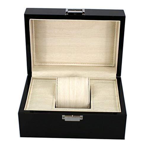 Z-LIANG Pantalla de Reloj Caja de Reloj de Madera Watching Ventana exhibición de la joyería Colección del Organizador del Caso Holder Caja de Organizador