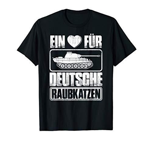 Panzerfahrer Deutsche Raubkatzen Panzer T-Shirt