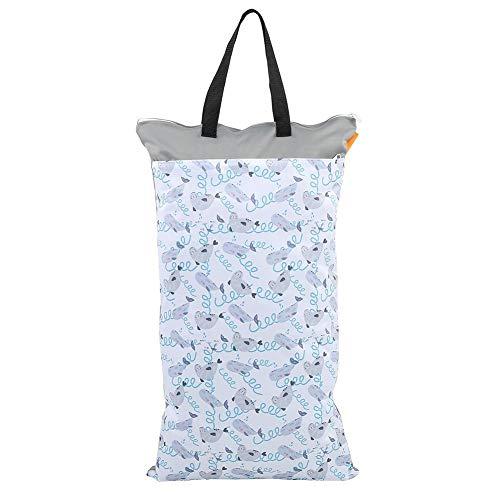 Borsa per pannolini impermeabile di grande capacit¨¤ che appende il panno asciutto bagnato Inserti per neonati Borsa per il bucato del pannolino per neonati(EF204)