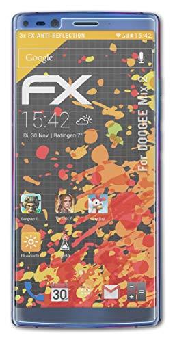 atFolix Panzerfolie kompatibel mit DOOGEE Mix 2 Schutzfolie, entspiegelnde & stoßdämpfende FX Folie (3X)