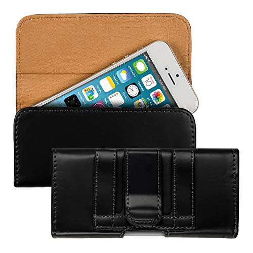 kwmobile Funda para Smartphone - Carcasa con Clip de cinturón - Cover de Cuero sintético 13.2 x 6.5 x 1.3 CM