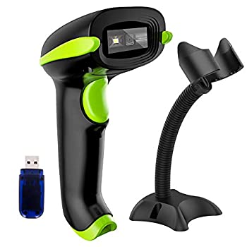 NADAMOO 2D Wireless Barcode Scanner with Stand Compatible with Bluetooth & 2.4G Wireless & Wired Connection Cordless QR Code Scanner USB Image Bar Code Reader for Computer Tablet iPhone iPad Android