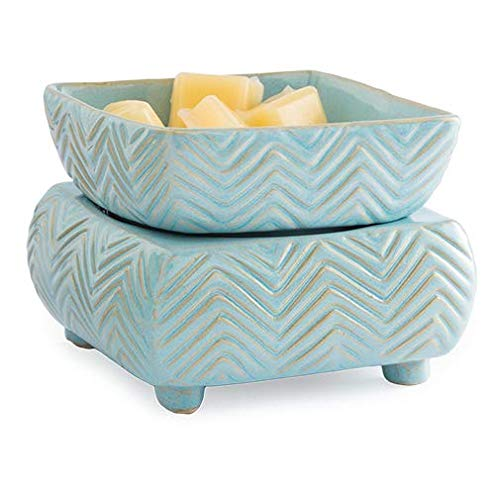 Candle Warmers Etc. Ceramic Candle Warmer and Dish, Chevron