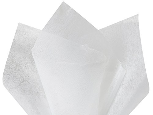 """White Non-Woven Tissue Sheets 10 Sheet Pack ~ 20""""x26"""" SheetsUse for Flower Wrapper, Bouquet"""