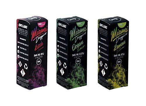 Miami Drippers SUPERMIX, 3 E-Zigaretten Liquids, 3 Geschmacksrichtungen 0 Nikotin
