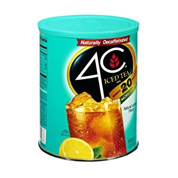 4C Iced Tea Mix Decaffeinated Natural Lemon - 6 Pack