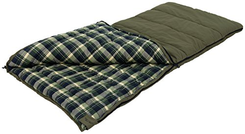 ALPS OutdoorZ Redwood -10 Degree Flannel Sleeping Bag, Green, 38 - x 80 -Inch