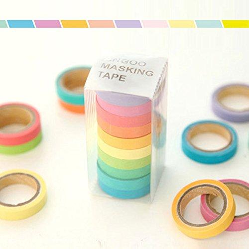 10 x Rollos de Washi Tape Aarc...