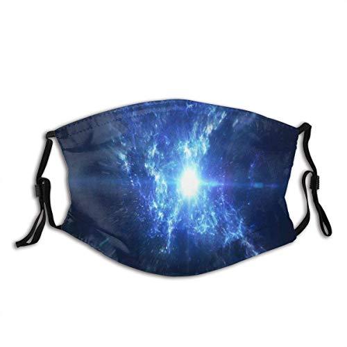 Orbit Cosmos Universum Szene Planeten Galaxiensterne Galaxien Teleskop Deep Andromeda Outer Science Unisex Waschbare und Wiederverwendbare Baumwolle Warmer Gesichtsschutz für den Außenbereich