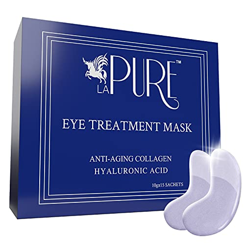 LA PURE Luxury Collagen Eye Mask - Under Eye Patches with Hyaluronic...