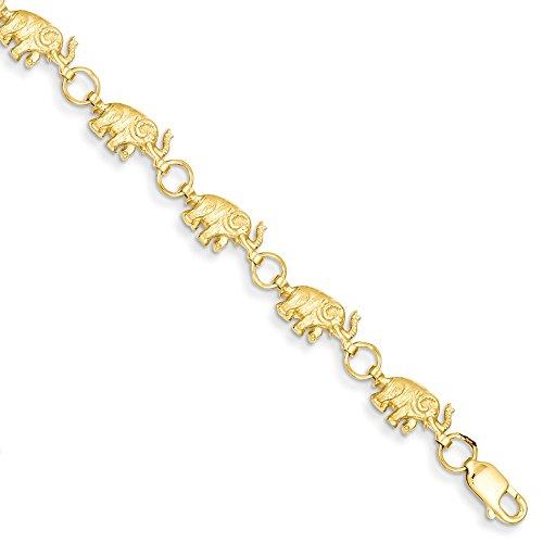 Black Bow Jewellery Company Ohrringe 14 k Gelbgold Elefant Badehose erhöhte Armband 20.32 cm