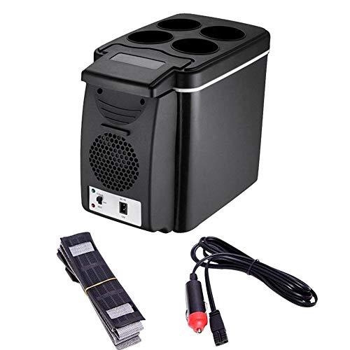 Seasaleshop Elektrische koelbox voor de auto, 12 V, mini-vriezer, draagbare ijsbox, reiskoelkast, warmere, koelbox voor camping, picknick, strand, 6 liter
