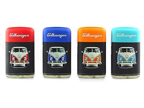 TopschnaeppchenDSH VW Volkswagen Bus Coloured Sturmfeuerzeug Feuerzeug, Blaue Flamme, zufällige Auswahl